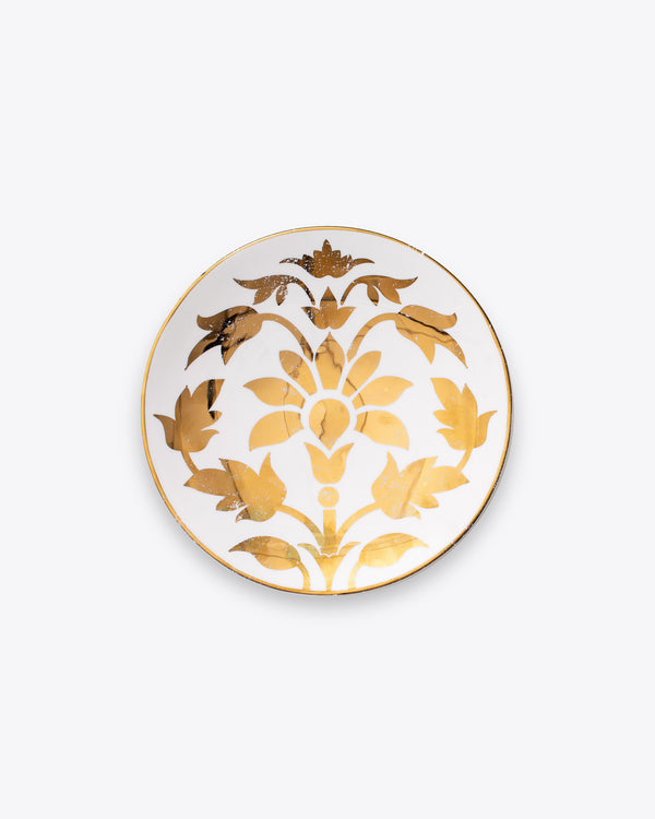 Lotus Salad + Dessert Plate | White Gold