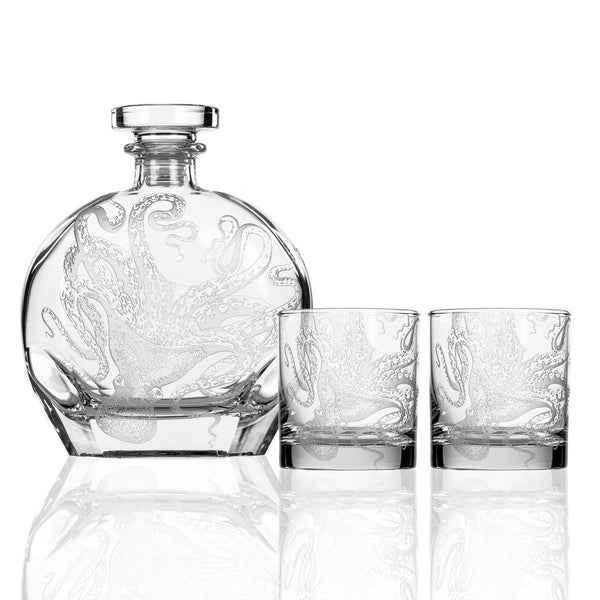 Kraken Decanter + On the Rocks Set