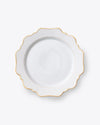 Point D'Esprit Dinner Plate