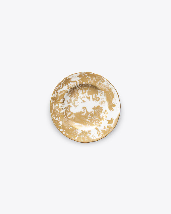 Peacock Bread + Butter Plate | Rent | Gold