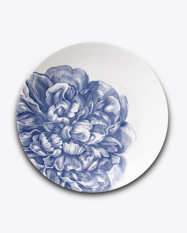 Peony Charger Plate | Blue