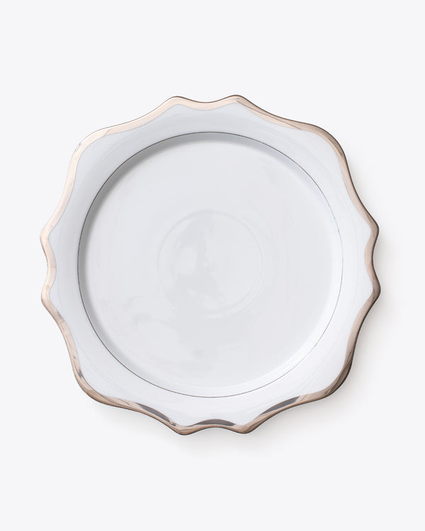 Anna's Antique Charger Plate | Platinum