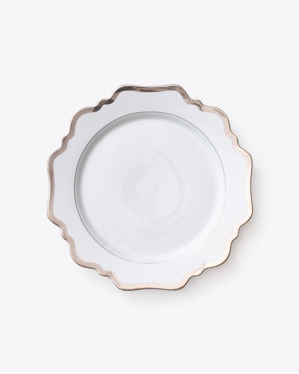 Anna's Antique Dinner Plate | Platinum