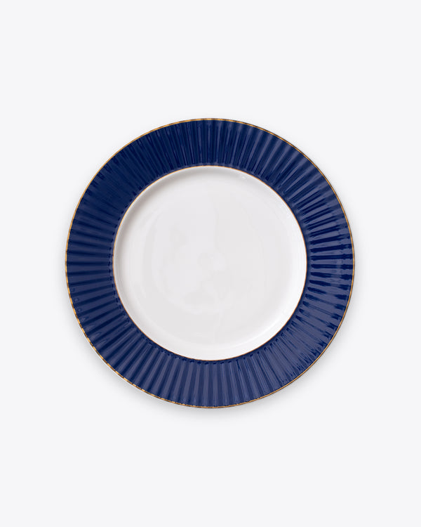 Pleated Dinner Plate | Rent | Navy