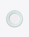 Pleated Salad + Dessert Plate | Aqua