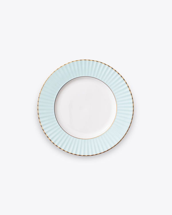 Pleated Salad + Dessert Plate | Rent | Aqua