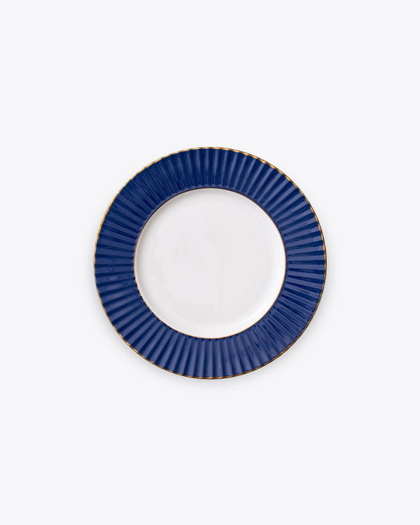 Pleated Salad + Dessert Plate | Navy
