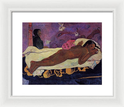 Paul Gauguin Spirit Of The Dead Watching Framed Canvas Ready To Hang Classical Art Giclee Wall Art Print Interior Design Museum Quality