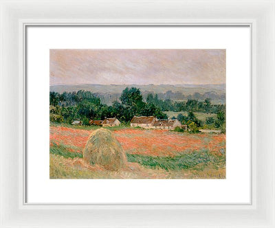 Claude Monet Haystack at Giverny Framed Canvas Ready To Hang Classical Art Giclee Wall Art Print Interior Design Museum Quality