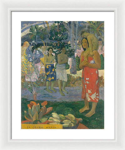 Paul Gauguin Hail Mary Framed Canvas Ready To Hang Classical Art Giclee Wall Art Print Interior Design Museum Quality