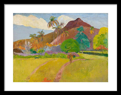 Paul Gauguin Tahitian Landscape Framed Canvas Ready To Hang Classical Art Giclee Wall Art Print Interior Design Museum Quality