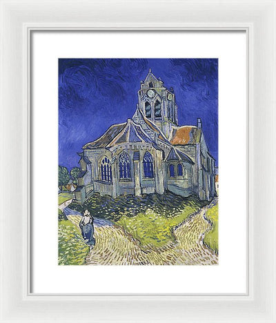 Vincent van Gogh The church in Auvers-sur-Oise, view from the Chevet Framed Canvas Ready To Hang Classical Art Giclee Wall Art Print Interior Design Museum Quality