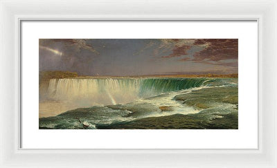 Frederic Edwin Church Niagara Framed Canvas Ready To Hang Classical Art Giclee Wall Art Print Interior Design Museum Quality