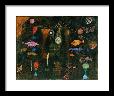 Paul Klee Fish Magic Framed Canvas Ready To Hang Classical Art Giclee Wall Art Print Interior Design Museum Quality