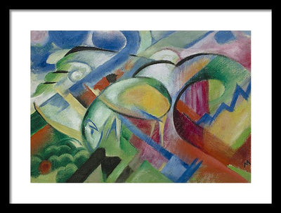 Franz Marc The Sheep Framed Canvas Ready To Hang Classical Art Giclee Wall Art Print Interior Design Museum Quality