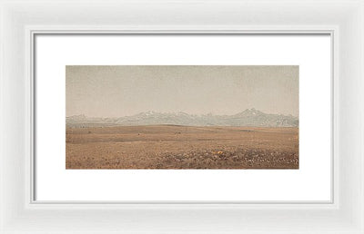 Sanford Robinson Gifford Longs Peak, Colorado Framed Canvas Ready To Hang Classical Art Giclee Wall Art Print Interior Design Museum Quality