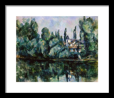 Paul Cezanne The Banks of the Marne or Villa on the Bank of a River Framed Canvas Ready To Hang Classical Art Giclee Wall Art Print Interior Design Museum Quality