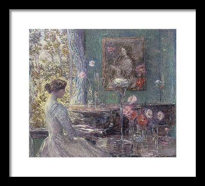 Childe Hassam Improvisation Framed Canvas Ready To Hang Classical Art Giclee Wall Art Print Interior Design Museum Quality