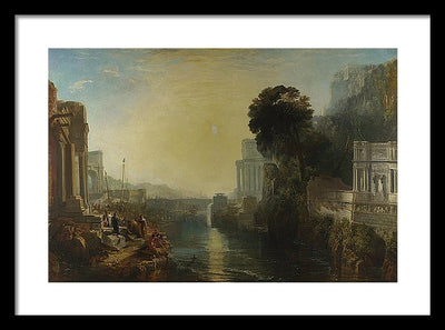 J. M. W. Turner Dido building Carthage Framed Canvas Ready To Hang Classical Art Giclee Wall Art Print Interior Design Museum Quality