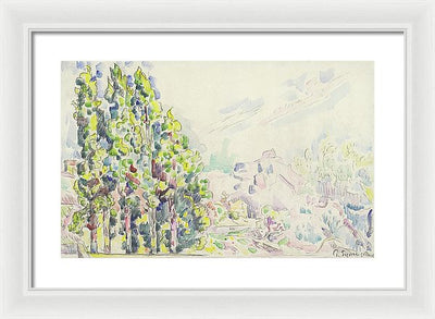 Paul Signac Saint-Paul-de-Vence Framed Canvas Ready To Hang Classical Art Giclee Wall Art Print Interior Design Museum Quality