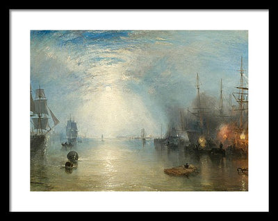 J. M. W. Turner Keelmen Heaving in Coals by Moonlight Framed Canvas Ready To Hang Classical Art Giclee Wall Art Print Interior Design Museum Quality