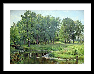 Ivan Shishkin In the park Framed Canvas Ready To Hang Classical Art Giclee Wall Art Print Interior Design Museum Quality