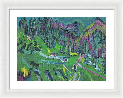 Ernst Ludwig Kirchner Landschaft Sertigtal Framed Canvas Ready To Hang Classical Art Giclee Wall Art Print Interior Design Museum Quality