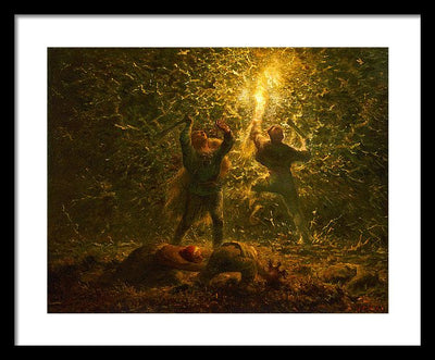 Jean-Francois Millet Bird's-Nesters Framed Canvas Ready To Hang Classical Art Giclee Wall Art Print Interior Design Museum Quality