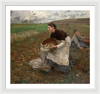 Jules Bastien-Lepage October Framed Canvas Ready To Hang Classical Art Giclee Wall Art Print Interior Design Museum Quality