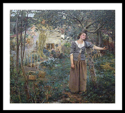 Jules Bastien-Lepage Jeanne d'Arc Framed Canvas Ready To Hang Classical Art Giclee Wall Art Print Interior Design Museum Quality