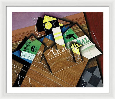 Juan Gris Fantômas Framed Canvas Ready To Hang Classical Art Giclee Wall Art Print Interior Design Museum Quality