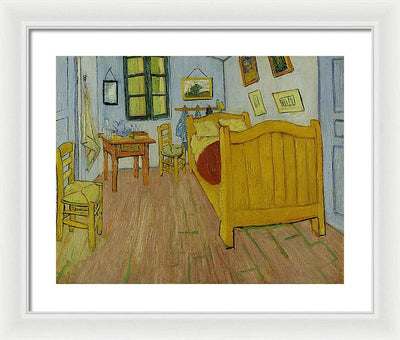 Vincent van Gogh Bedroom In Arles Framed Canvas Ready To Hang Classical Art Giclee Wall Art Print Interior Design Museum Quality
