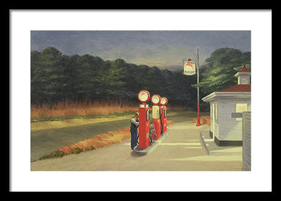 Edward Hopper Gas Framed Canvas Ready To Hang Classical Art Giclee Wall Art Print Interior Design Museum Quality