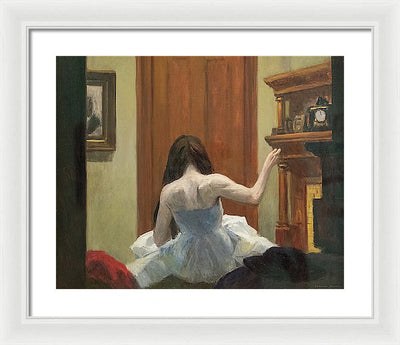 Edward Hopper New York Interior Framed Canvas Ready To Hang Classical Art Giclee Wall Art Print Interior Design Museum Quality
