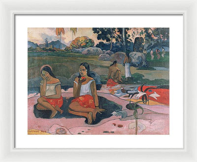 Paul Gauguin Sacred Spring Sweet Dreams Nave Nave Moe Framed Canvas Ready To Hang Classical Art Giclee Wall Art Print Interior Design Museum Quality