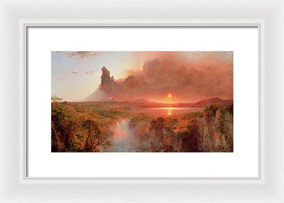 Frederic Edwin Church Cotopaxi Framed Canvas Ready To Hang Classical Art Giclee Wall Art Print Interior Design Museum Quality