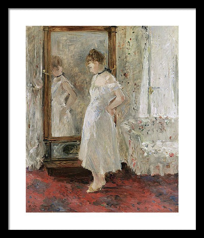 Berthe Morisot La psyché Framed Canvas Ready To Hang Classical Art Giclee Wall Art Print Interior Design Museum Quality