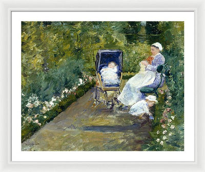 Marry Cassat Children in a Garden (The Nurse) Framed Canvas Ready To Hang Classical Art Giclee Wall Art Print Interior Design Museum Quality