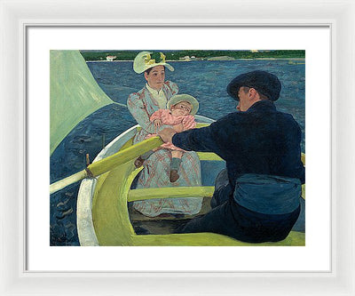 Marry Cassat The Boating Party Framed Canvas Ready To Hang Classical Art Giclee Wall Art Print Interior Design Museum Quality