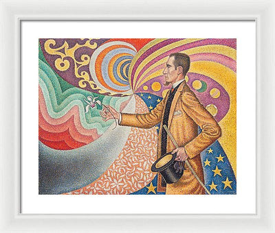 Paul Signac Portrait de Félix Fénéon Framed Canvas Ready To Hang Classical Art Giclee Wall Art Print Interior Design Museum Quality