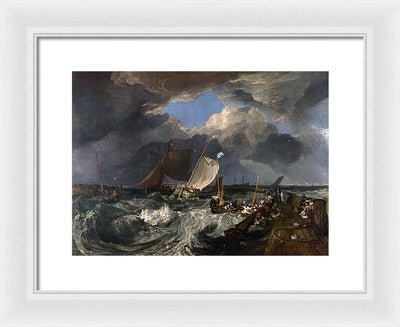 J. M. W. Turner Calais Pier Framed Canvas Ready To Hang Classical Art Giclee Wall Art Print Interior Design Museum Quality