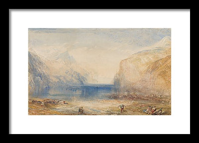 J. M. W. Turner Fluelen: Morning (looking towards the lake) Framed Canvas Ready To Hang Classical Art Giclee Wall Art Print Interior Design Museum Quality