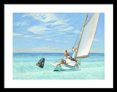 Edward Hopper Ground Swell Framed Canvas Ready To Hang Classical Art Giclee Wall Art Print Interior Design Museum Quality
