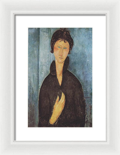 Amedeo Modigliani Woman with Blue Eyes Framed Canvas Ready To Hang Classical Art Giclee Wall Art Print Interior Design Museum Quality