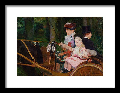 Marry Cassat A Woman and a Girl Driving Framed Canvas Ready To Hang Classical Art Giclee Wall Art Print Interior Design Museum Quality
