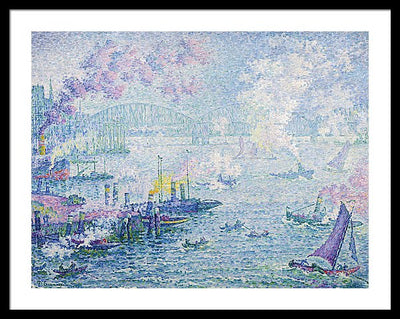 Paul Signac The Port of Rotterdam Framed Canvas Ready To Hang Classical Art Giclee Wall Art Print Interior Design Museum Quality