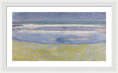 Piet Mondrian Sea After Sunset Framed Canvas Ready To Hang Classical Art Giclee Wall Art Print Interior Design Museum Quality