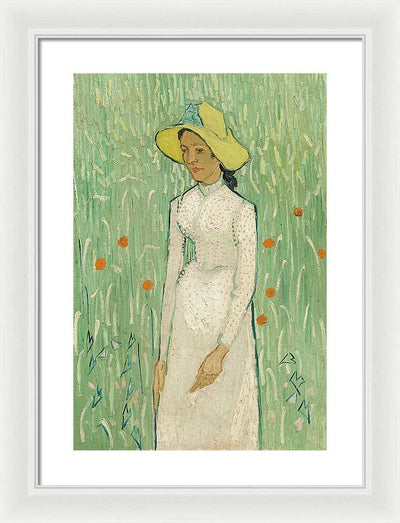 Vincent van Gogh Girl In White Framed Canvas Ready To Hang Classical Art Giclee Wall Art Print Interior Design Museum Quality
