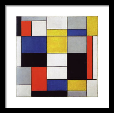 Piet Mondrian Composition A Framed Canvas Ready To Hang Classical Art Giclee Wall Art Print Interior Design Museum Quality