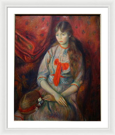 William James Glackens A Young Girl Framed Canvas Ready To Hang Classical Art Giclee Wall Art Print Interior Design Museum Quality